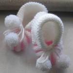 Karpuz dilimli bebek patikleri