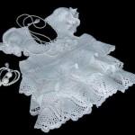 beyaz örgü elbise modeli