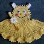 güken suratlı sarı örgü elbise