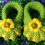karpuz dilimli bebek patigi yeşil sarı
