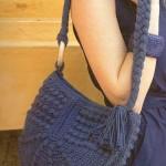 lacivert örgü çanta modeli