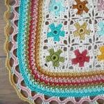motifli örgü battaniye
