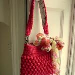 nar çiçeği örgü çanta