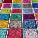 rengarenk motiflerden örtüler