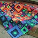 rengarenk motifli örtüler
