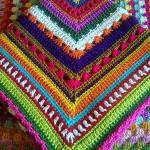 renkli tığ işi battaniyeler