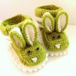 tavşan kulaklı örgü bebek patiği