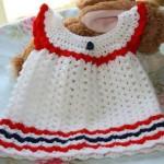 çeşitli örgü bebek elbiseleri