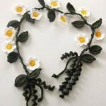 çiçekli örgü kolye