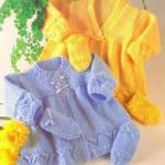 örgü bebek hırka ve eldivenleri