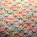 örgü renkli bebek battaniyesi