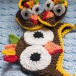 baykuş desenli şapka ve patik modeli