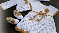 Harika Örgü Bebek Elbiseleri