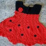 kırmızı siyah örgü elbise
