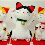kedi bebek örgü oyuncakları