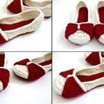 krem bordo fiyonklu ev ayakkabısı
