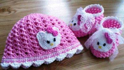 Birbirinden Güzel Örgü Bebek Patikleri