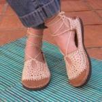 tabanlı örgü bayan ayakkabı