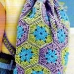 altıgen motif çanta örneği