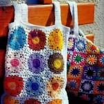 beyaz renkli motifli çanta örnekleri