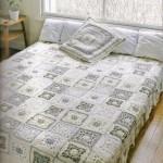 dantelli kırk yama yatak örtüsü modeli
