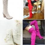 diz üstü kadın çizme modası trend