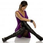 hotiç uzun siyah çizme modeli