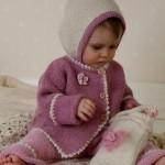 kışlık örgü bebek ceketi modelleri