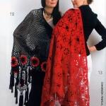 kırmızı siyah 2 adet şal örneği 2012
