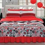 kırmızı siyah desenli uyku seti modeli