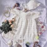 kız çocukları için beyaz örgü elbise ve bere modelleri