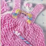 kız bebekleri için örgü elbise örnekleri