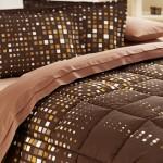 kahverengi desenli uyku seti modeli
