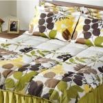kahverengi yeşil yapraklı uyku seti modeli