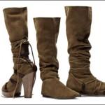kalın topuklu süet marka çizme modelleri