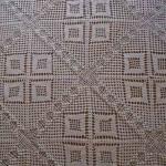 kare motifli yatak örtüsü örneği