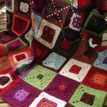 kare renkli battaniye dizaynı