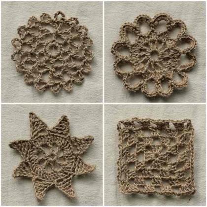 Pineapple Motif Earring - free crochet pattern
