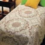 motif motif dantel yatak örtüsü modeli