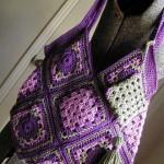 motifli tığ işi çanta örneği