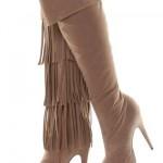 püsküllü süet çizme modası modelleri