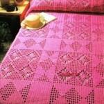 pembe dantel yatak örtüsü modeli