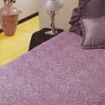 pembe motifli dantel yatak örtüsü modeli