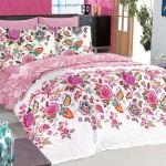 rengarenk çiçekli uyku seti modeli