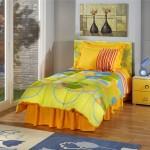 sarı turuncu oval desenli uyku seti modeli