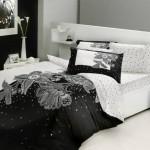siyah beyaz uyku seti modeli