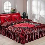 siyak kırmızı güllü uyku seti modeli