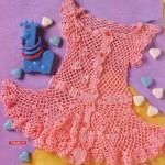 tığ işi kız bebek elbise çeşitleri