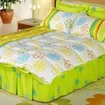 yeşil çiçek desenli uyku seti modeli