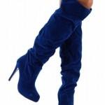 yeni sezon mavi topuklu çizme modelleri